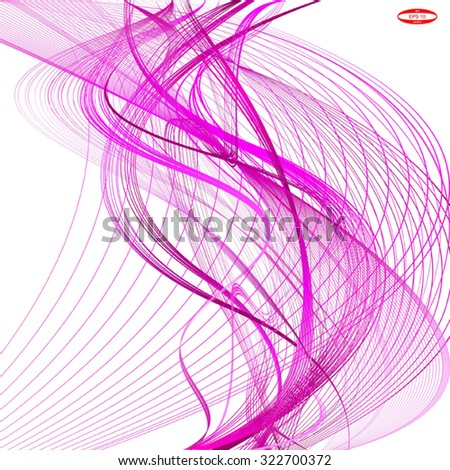 abstract dark pink line with