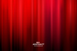 Abstract dark red color Light Technology background with halftone effect for computer graphic website internet and business. Move motion blur. Red curtain concept. Vector illustration