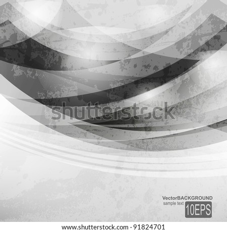 Abstract dark shape design concept. Vector illustration