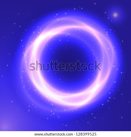 Abstract dark space square background with circles, eps 10
