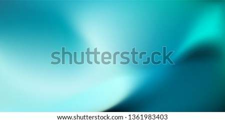 Abstract dark teal background with light wave. Blurred turquoise water backdrop. Vector illustration for your graphic design, banner, wallpaper or poster