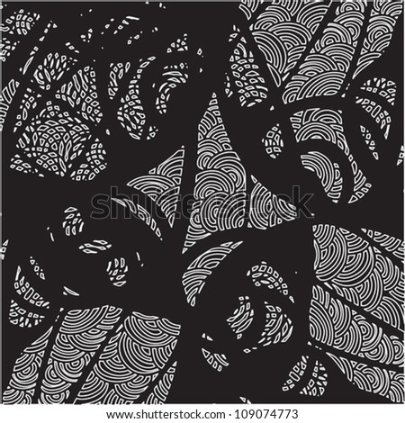 abstract decorative black and white pattern of the lines