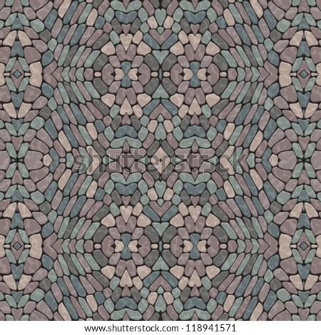 Abstract decorative bumpy pebble mosaic surface. Seamless pattern. Vector.