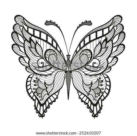 abstract decorative butterfly