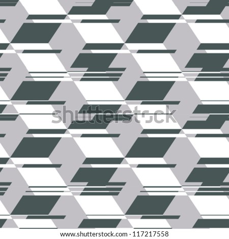 Abstract decorative geometric template. Seamless pattern. Vector.