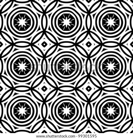 Abstract decorative seamless black and white pattern background vector illustration