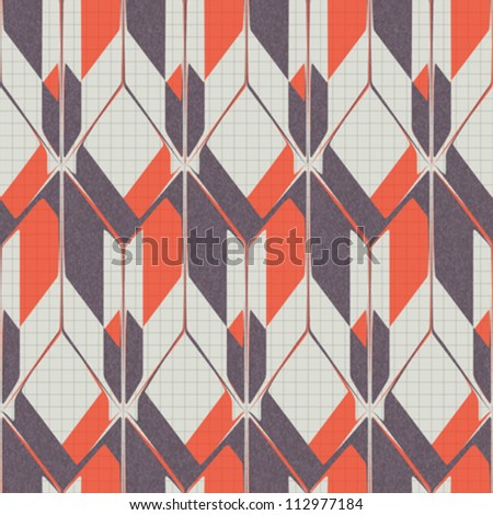 Abstract decorative textured geometric background. Seamless pattern. Vector.