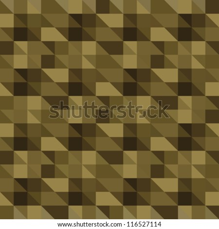 Abstract decorative textured khaki pixels background. Seamless pattern. Vector.