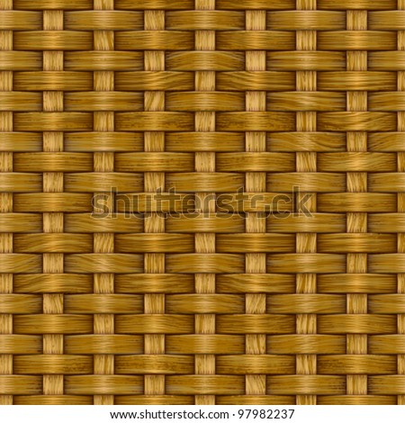 Abstract decorative wooden striped textured basket weaving background. Seamless pattern. Vector.