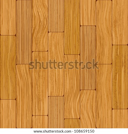 Abstract decorative wooden textured parquet floor background. Seamless tiling. Vector.