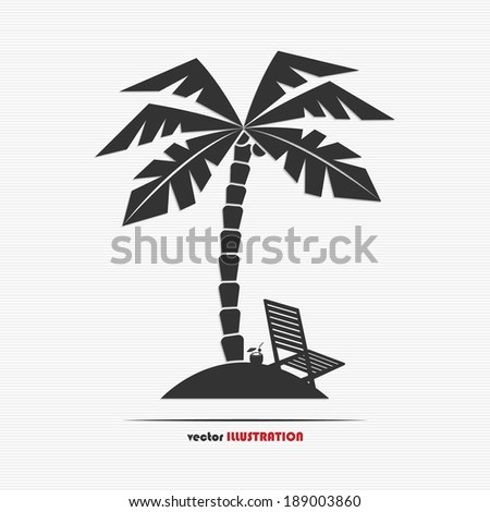 abstract desert island web icon