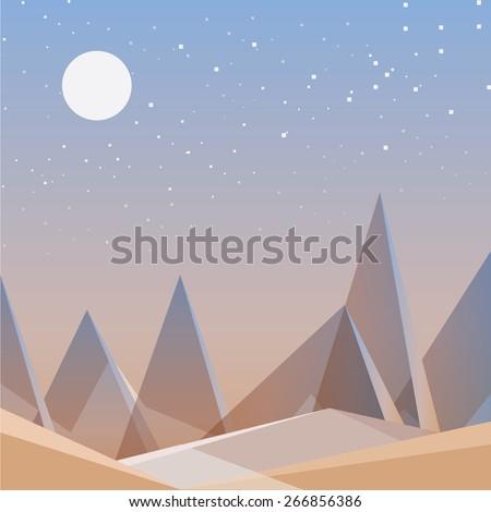 abstract desert landscape
