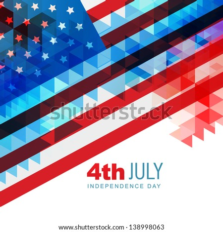 abstract design american independence day art