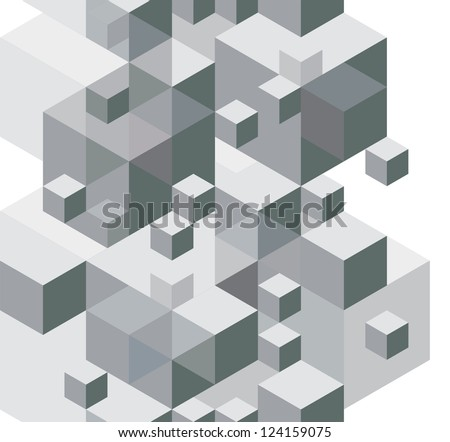 Abstract design background, seamless pattern, vector monochrome illustration.