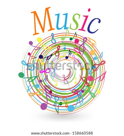 Colorful Musical Notes Pictures With Colorful Music Notes