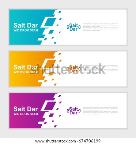 abstract design banner template.vector illustration  #674706199