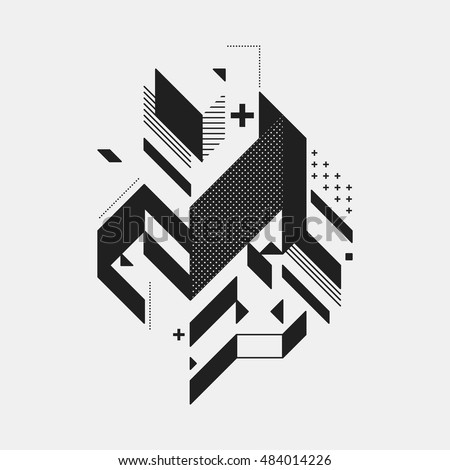 abstract design element on