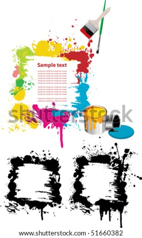 Abstract design elements. All elements and textures are individual objects. Vector illustration scale to any size. - stock vector