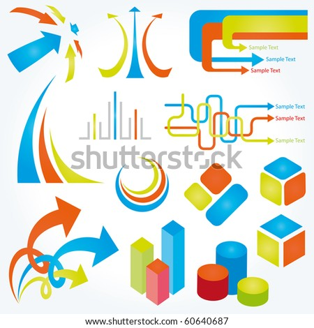 Abstract design elements. Vector illustration.