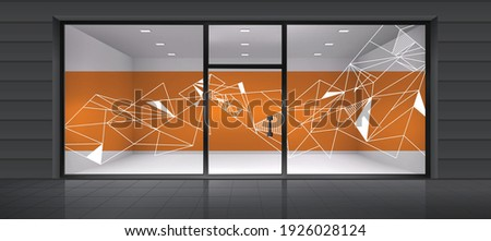 Abstract design for glass and wall graphics. Glass graphics design for Office, Train station, Supermarket, Store, Shop, Mall, Boutique, Home glass partition.