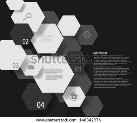 Abstract Design Hexagonal Shapes Background