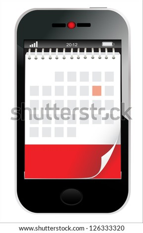 Abstract design mobile phone vector illustration