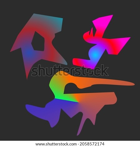 Abstract design of an island map with various colour and gradient