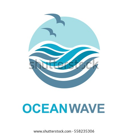 abstract design of ocean logo