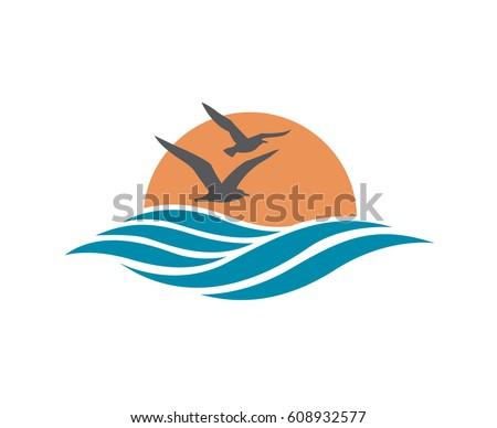 abstract design of ocean logo