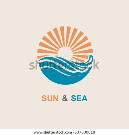 abstract design of sun and sea