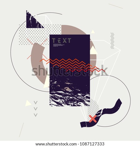 Abstract design  poster of geometric elements