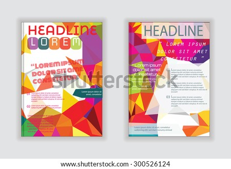 Abstract design  sample text for text and message brochure artwork design in A4 size #300526124