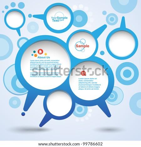 Abstract design speech Bubble set, vector