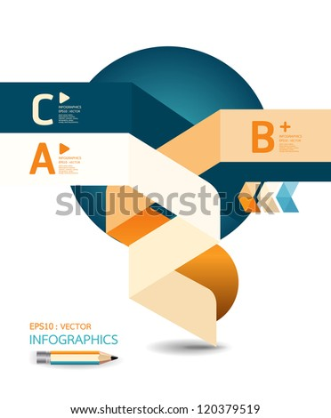 abstract Design template / can be used for infographics / numbered banners / horizontal cutout lines / graphic or website layout vector/Horizontal