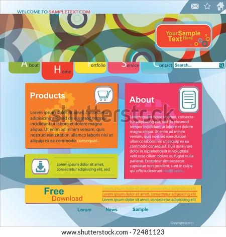 Abstract Design Website Template - stock vector