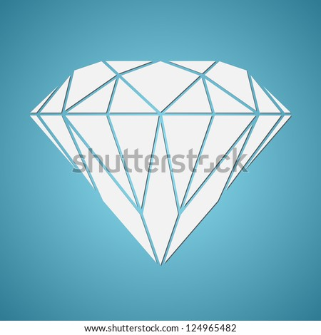Abstract diamond vector