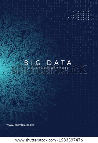 Abstract digital background. Artificial intelligence, deep learning and big data concept. Quantum technology. Tech visual for cloud template. Modern abstract digital background.