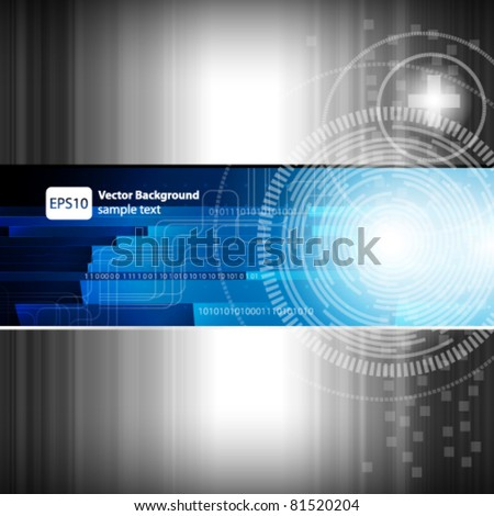 Abstract digital background - vector illustration - stock vector