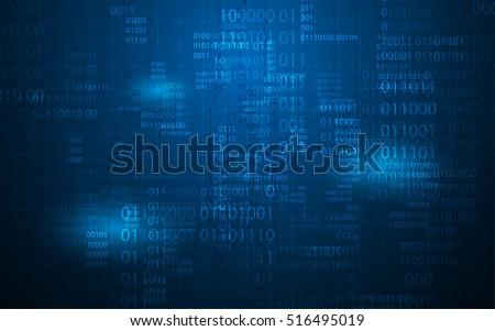 abstract digital binary matrix