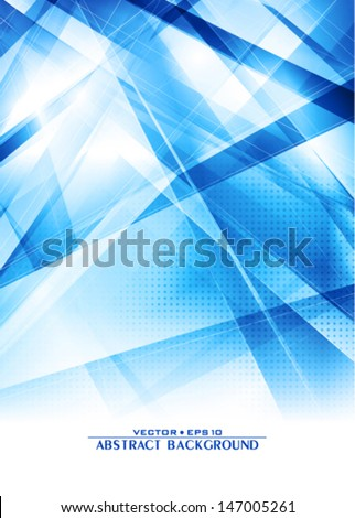 Abstract digital blue background. Vector - stock vector