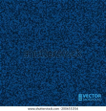 abstract digital blue pixels