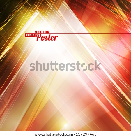 Abstract digital card with lighting effect. Vector