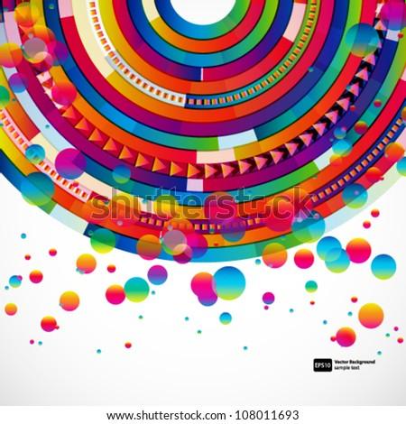 Abstract digital circles vector background