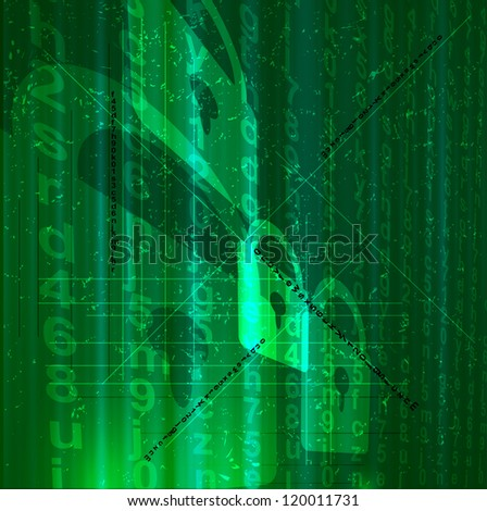 Abstract digital conceptual technology digital security background