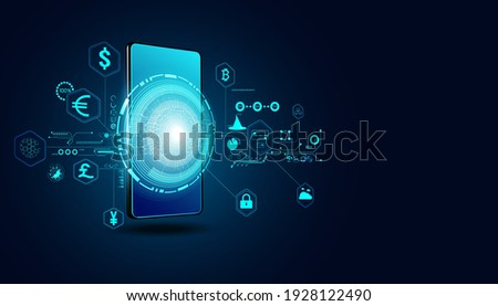 Abstract Digital Finance in the Online World By Mobile Internet, Transactions in Online Systems On the background is a digital map, internet, stock trading. Connected all over the world