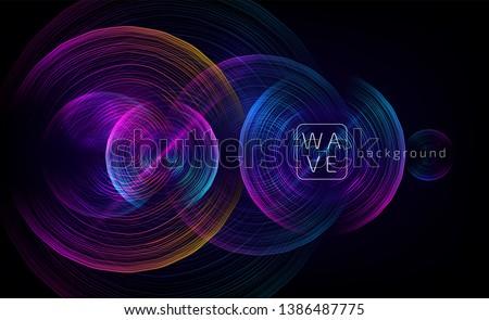 abstract digital future circle