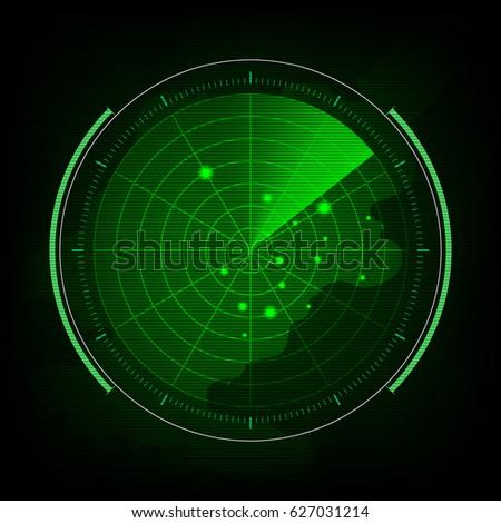 abstract digital green radar