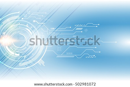 abstract digital hi tech technology innovation concept vector background