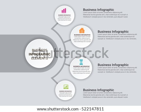 Abstract  digital illustration Infographic. Vector illustration can be used for workflow layout, diagram, number options, web design.