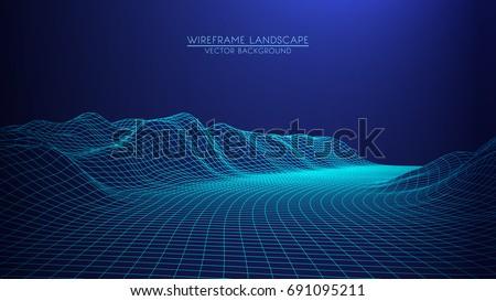 abstract digital landscape